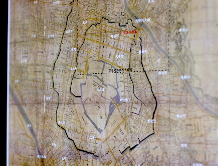 金沢城惣構 古地図